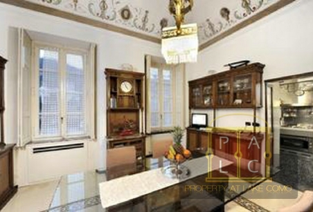 Dining Room of Villa Voltiana Lake Como Rentals
